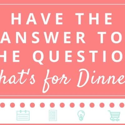 Easy Menu Planning Infographic! (Free Download)