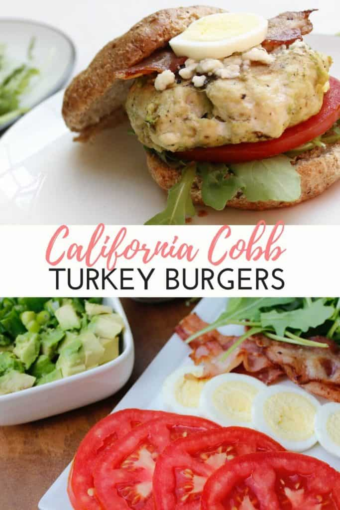 California Cobb Turkey Burgers