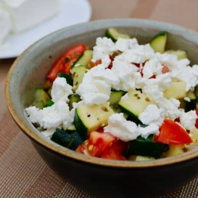 Zucchini with Tomatoes & Feta Cheese