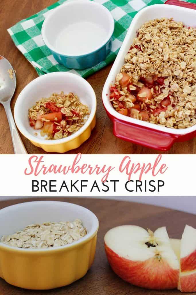 Strawberry & Apple Breakfast Crumble