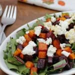 Roasted Beet & Butternut Squash Beet Green Salad