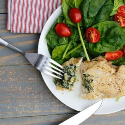 Spinach & Artichoke Stuffed Chicken Breasts