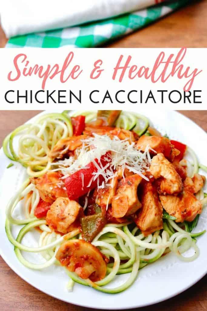 Simple Healthy Chicken Cacciatore
