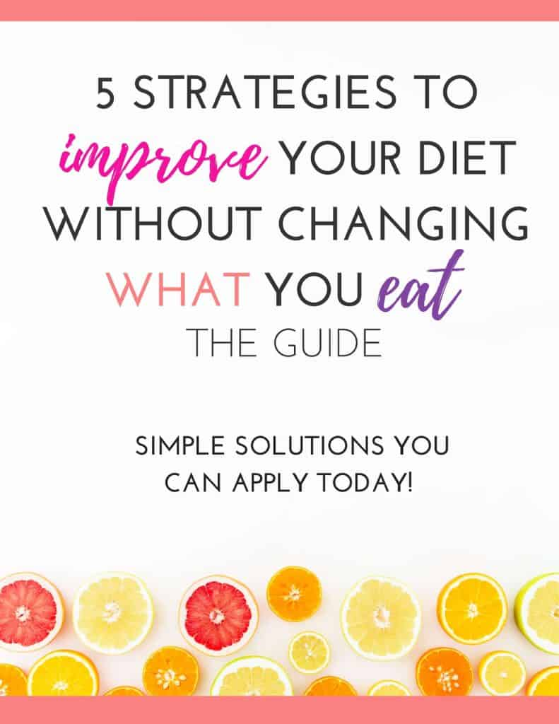 Cover- 5 Strategies to Improve Your Diet Without Changing What You Eat!- Guide 2