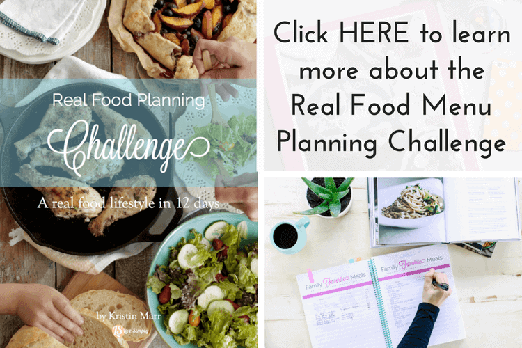 picture of real food menu planning challenge