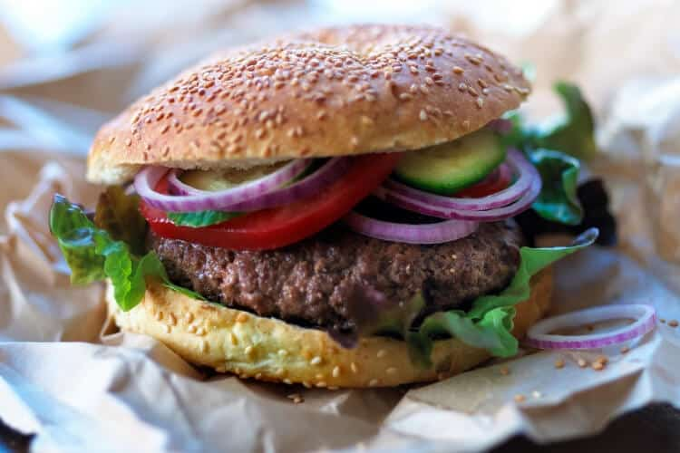 picture of burger when you eat what you want